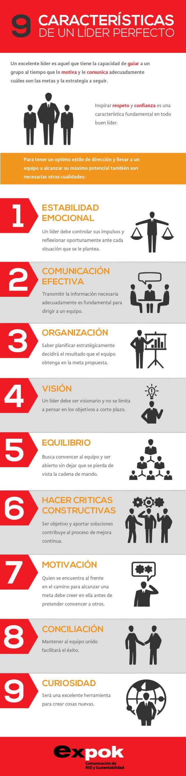 9 características deseables en un lider